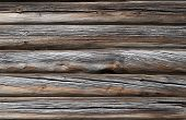 Very Old Log Wall Background