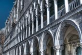 picture of arcade  - San Marco arcade in hdr tone mapping - JPG