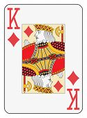 Jumbo index king of diamonds playing card