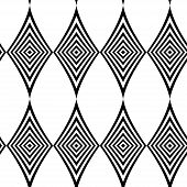 Seamless Pattern. Modern Stylish Texture. Repeating Geometric Tiles With Black And White Striped Rho