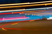 Abstract Image Of Night Lights In Motion Blur In The City.