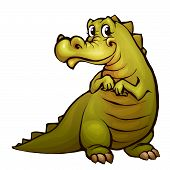 Vector illustration of crocodile in cartoon style