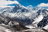 Mountains Ama Dablam. Trek To Everest Base Camp. Himalayas. Nepal