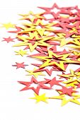 Placer Of Yellow And Red Stars