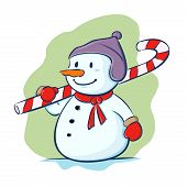 Snowman Carry Candy Cane