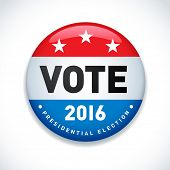 2016 USA presidential election button. EPS 10