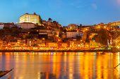Night scene of Porto, Portugal