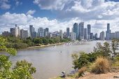 Brisbane, Australia - 26th September, 2014: View from Kangaroo point overlooking Brisbane City