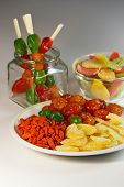 The mixture of exotic dried fruits for healthy food