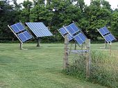 four solar panels