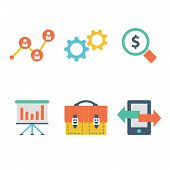 Vector collection of flat and colorful business and finance concepts