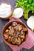 mushroom in bowl