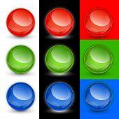 Vector button balls, samples