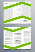 foto of pamphlet  - Template for a trifold business brochure in modern - JPG