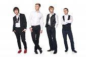 Four elegant young men