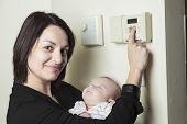 Thermostat woman set