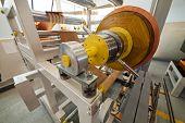 picture of transformer  - details of copper foil bending machine in high voltage transformer making plant - JPG