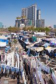 pic of laundromat  - Dhobi Ghat is a well known open air laundromat in Mumbai India - JPG