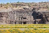 picture of ellora  - Kailas Temple in Ellora Maharashtra state in India - JPG