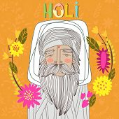 Happy Holi - Concept Vector Card. Indian Festival Happy Holi Celebrations Design In A Colorful Style