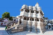 stock photo of hindu temple  - Jagdish Temple is a large Hindu temple in Udaipur India - JPG