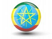 Round Icon Of Flag Of Ethiopia