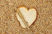 Bread Heart And Grain