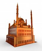 Mosque isolated from the background