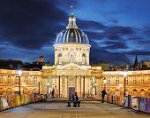 French Institute (institute De France) At Night, Paris