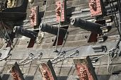 Cannons of an old war ship