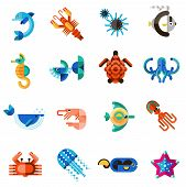Постер, плакат: Sea Creatures Set