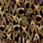 Gold letters seamless