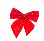 Festive red bow