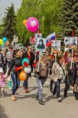 A Festive Demonstration Dedicated To The Victory Day. Pyatigorsk.