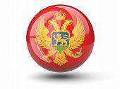 Round Icon Of Flag Of Montenegro