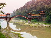 Typical chinese bridge near Leshan