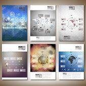 Hexagonal design infographic vectors. Brochure, flyer or report for business, templates vector