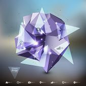Abstract dimensional polygonal geometric infographic, background for modern design