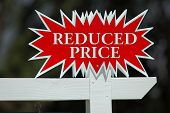 Reduced Price Real Estate Sign