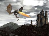 Dragon scenery - 3D render
