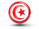 Round Icon Of Flag Of Tunisia