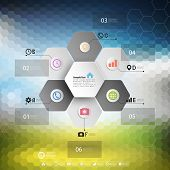 picture of hexagon pattern  - Infographic for business - JPG