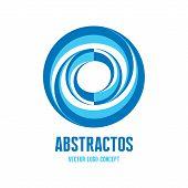 Abstract circles - vector logo concept illustration. Vector logo template. Design element.