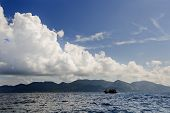 Famous Lipe Island Lagoon With A Boat.