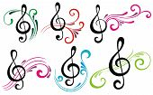 pic of music symbol  - Vector illustration of music elements - JPG