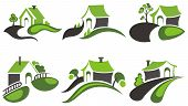 picture of farm-house  - Real Estate House logo design - JPG