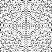 Design Warped Monochrome Decorative Lacy Pattern