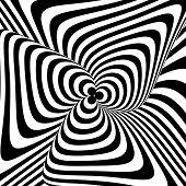 stock photo of distort  - Design monochrome twirl circular movement illusion background - JPG
