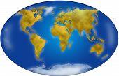 World map planisphere