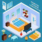 Isometric Bedroom Interior